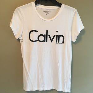 Calvin Klein White t-shirt size small
